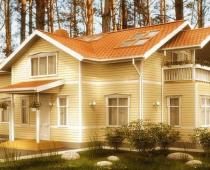 Деревянные дома по современному индивидуальному проекту